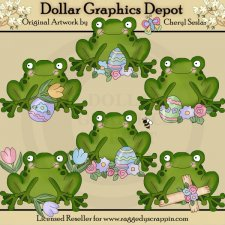 Little Frogs - Easter - Clip Art