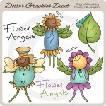 Flower Angels - Clip Art