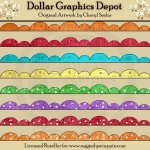 Scalloped Borders - Brights