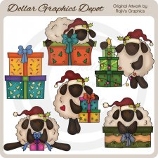 Christmas Sheep - Clip Art