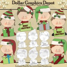 Christmas Greeting Kids - Combo Set