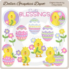 Easter Chicks 2 - Clip Art