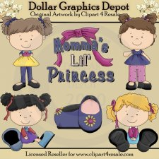 Momma's Lil Princess - Clip Art - *DGD Exclusive*