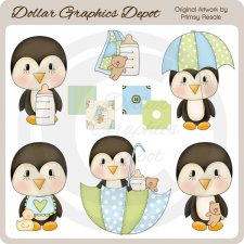 Baby Boy Penguins - Clip Art