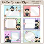 Bumble Bee Frames - Clip Art - *DGD Exclusive*