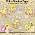Little Chicks - Easter Frolic - Clip Art