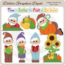 Autumn Gnomes - Clip Art