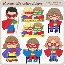 Capable Teens Superheroes - Clip Art - *DCS Exclusive*