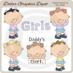 Little Kids - Girls - Clip Art