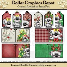 Lou La Christmas Gift Tags