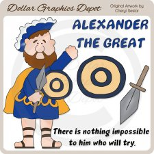 Alexander The Great - Clip Art