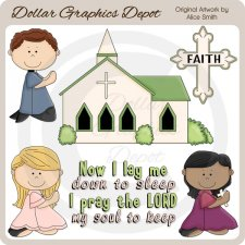 Faithful Prayers - Clip Art - *DGD Exclusive*