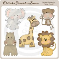 Jungle Babies - Clip Art