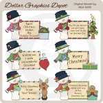 Snowman Messages - Clip Art