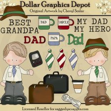 My Dad - Grandpa - Uncle - Clip Art