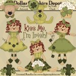 Sweet Irish Raggedies - Clip Art