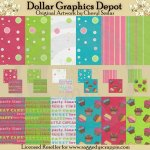 Sweet Cupcake Papers and Backgrounds