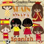 Spanish Dolls - Clip Art