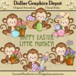 Monkey Business - Easter - Clip Art