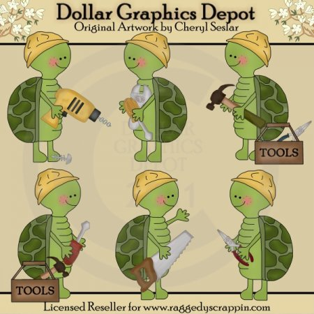 Silly Turtles - Tools - Clip Art
