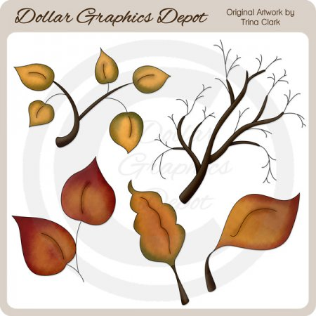 Autumn Leaves 2 - Clip Art