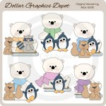 Polar Bear Friends - Clip Art - *DGD Exclusive*