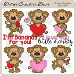 Monkey Love - Clip Art