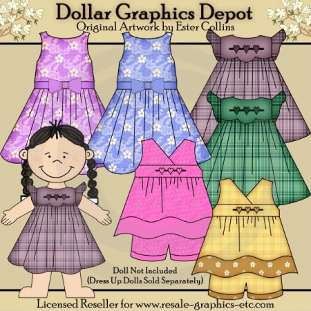 Dress Up Doll Clothes 1 - Clip Art