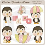 Baby Girl Penguins - Clip Art