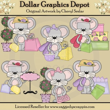Cute Shopping Mice - *DGD Exclusive*