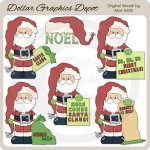 Santa Claus Messages - Clip Art
