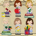 Felicity Jane - School - Clip Art