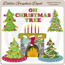 Oh Christmas Tree - Clip Art
