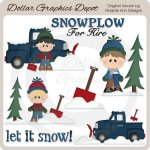 Snowplow For Hire 1 - Clip Art