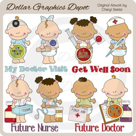 Doctor Visit Babies - Clip Art - *DGD Exclusive*