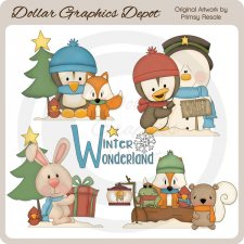 Winter Wonderland Critters 1 - Clip Art