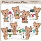 Little Teddy - Snowman Soup - Clip Art
