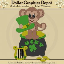 Irish Monkey 2 - Cutting Files / Paper Piecing - *DCS Exclusive*