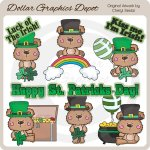 Luck Of The Irish Bears - Clip Art