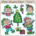 Little Elfkins - Clip Art