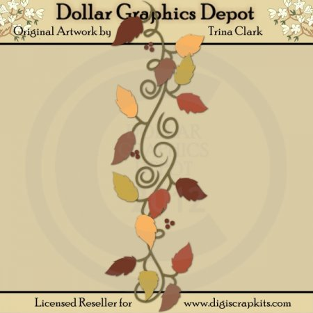 Autumn Border 1 - Cutting Files / Paper Piecing Patterns