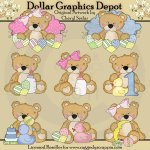 Sweet Stuffins - Baby Bears - Clip Art