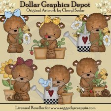 Baxter and Bailey - Spring Blooms - Clip Art
