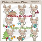 Mumford Mouse Loves Christmas - Clip Art - *DGD Exclusive*