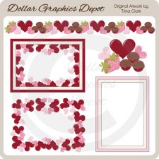 My Valentine Frames 1 - Scrap Elements