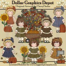 Autumn with Molly - Clip Art - *DGD Exclusive*
