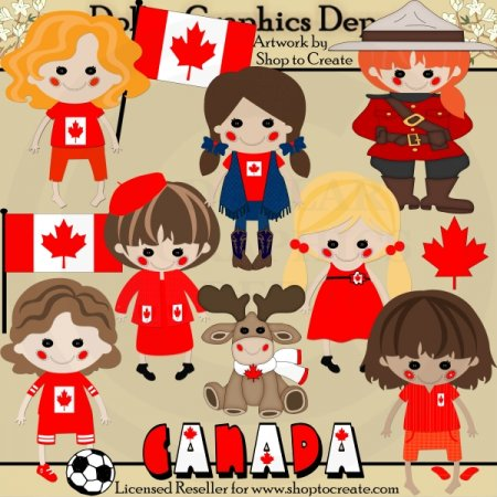 Canadian Dolls 1 - Clip Art