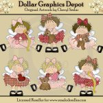 Little Cupid Beauties - Clip Art