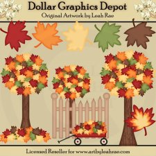 Fall Foliage - Designer's Set - Clip Art