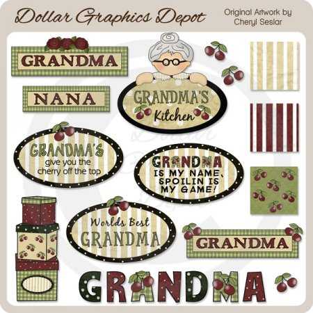 Grandma Is My Name - Clip Art